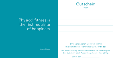 Pilates-Gutschein frisch private pilates