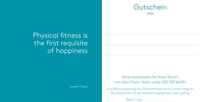 Pilates-Gutschein frisch private pilates