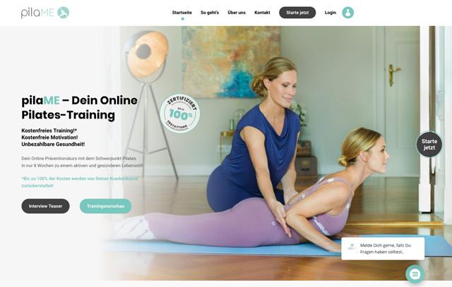 Pilates Präventionskurs - Online mit Christina Frisch und Alina Merkau auf pilaME